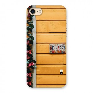 Be Happy Yellow Wall Back Case for iPhone 7