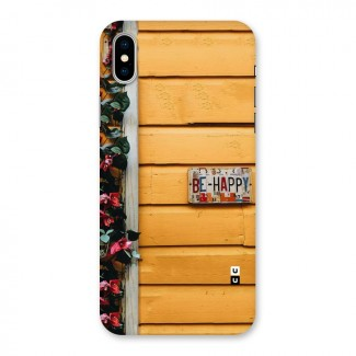 Be Happy Yellow Wall Back Case for iPhone X