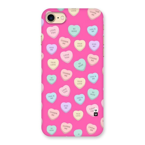 Be Mine Hearts Pattern Back Case for iPhone 7