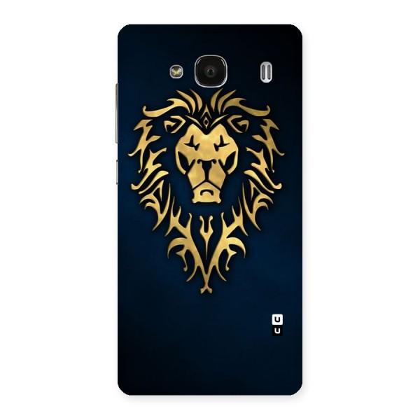 Beautiful Golden Lion Design Back Case for Redmi 2 Prime