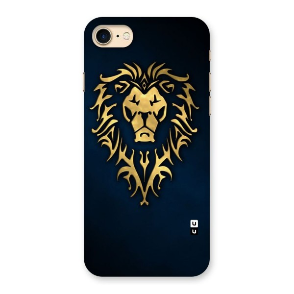 Beautiful Golden Lion Design Back Case for iPhone 7