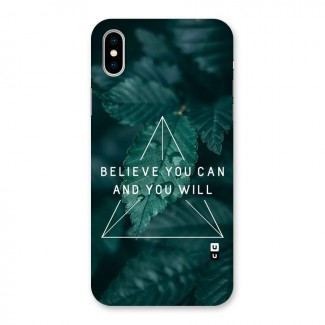 Believe You Can Motivation Back Case for iPhone X