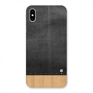 Bicolor Wood Texture Back Case for iPhone X