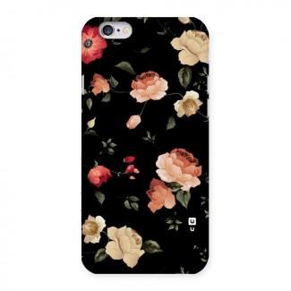 Black Artistic Floral Back Case for iPhone 6 6S