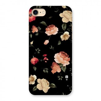 Black Artistic Floral Back Case for iPhone 7