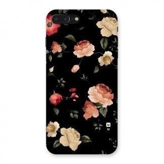 Black Artistic Floral Back Case for iPhone 7 Plus