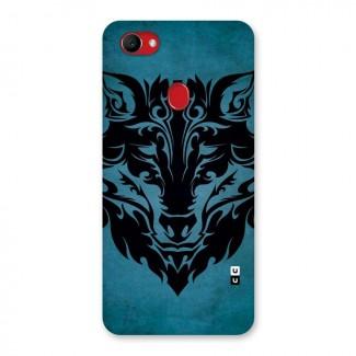 Black Artistic Wolf Back Case for Oppo F7