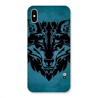 Black Artistic Wolf Back Case for iPhone X