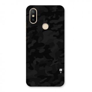 Black Camouflage Back Case for Mi A2