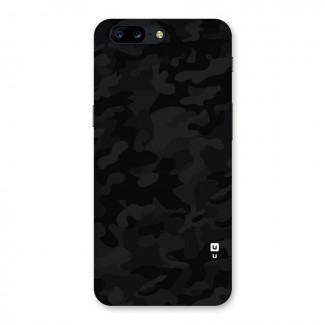 Black Camouflage Back Case for OnePlus 5