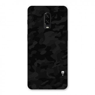 Black Camouflage Back Case for OnePlus 6T