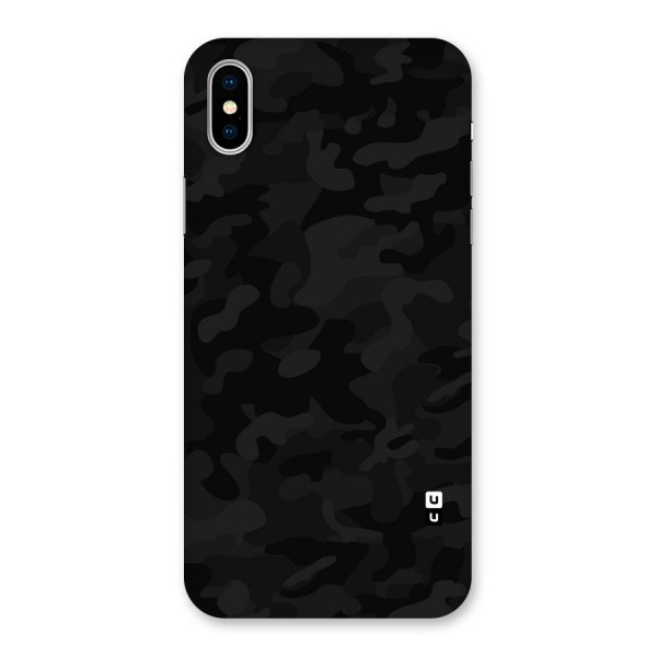 Black Camouflage Back Case for iPhone X