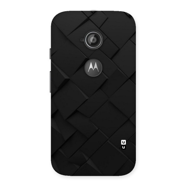Black Elegant Design Back Case for Moto E 2nd Gen