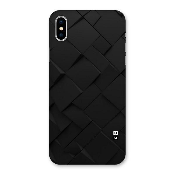 Black Elegant Design Back Case for iPhone X