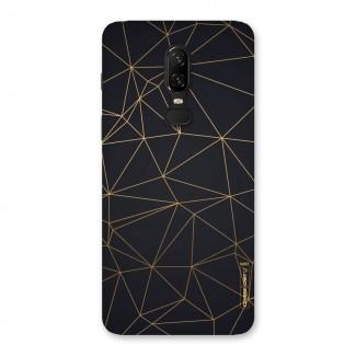 Black Golden Lines Back Case for OnePlus 6