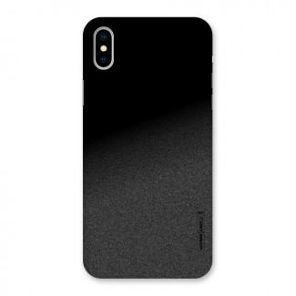 Black Grey Noise Fusion Back Case for iPhone XS