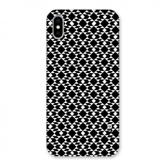 Black White Diamond Abstract Back Case for iPhone X