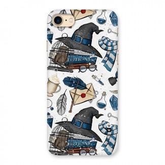 Blue Feather Hat Design Back Case for iPhone 7