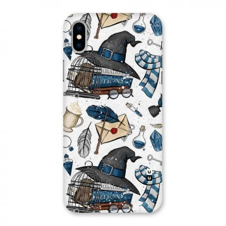 Blue Feather Hat Design Back Case for iPhone X