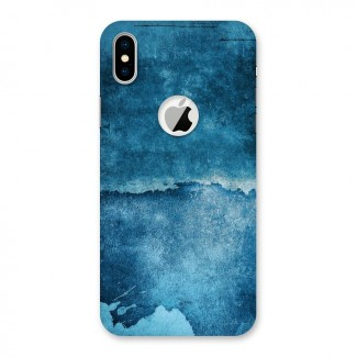 Blue Paint Wall Back Case for iPhone X Logo Cut