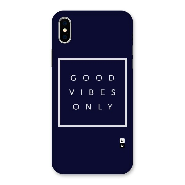 Blue White Vibes Back Case for iPhone X