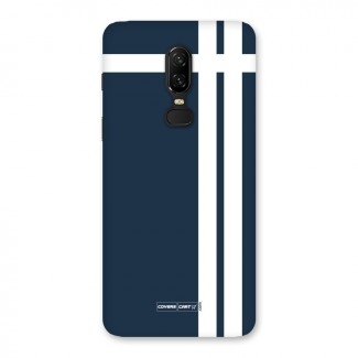 Blue and White Back Case for OnePlus 6