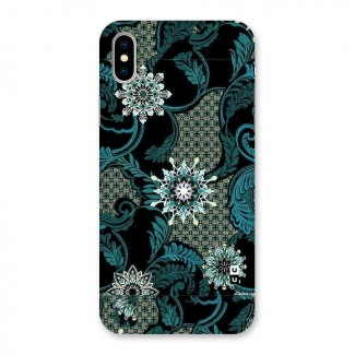 Bottle Green Floral Back Case for iPhone X