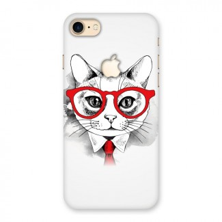 Business Cat Back Case for iPhone 7 Apple Cut