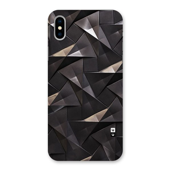 Carved Triangles Back Case for iPhone X