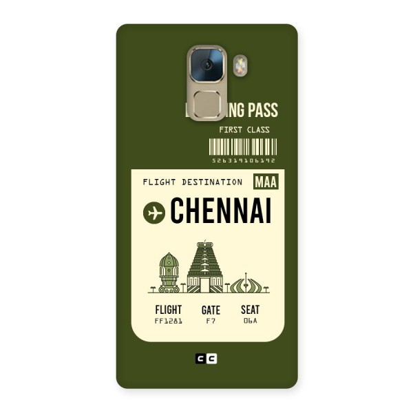 Chennai Boarding Pass Back Case for Huawei Honor 7