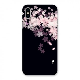 Cherry Flowers Pink Back Case for iPhone X