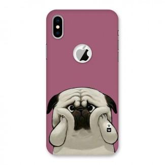 Chubby Doggo Back Case for iPhone X Logo Cut