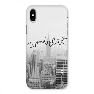 City Wanderlust Monochrome Back Case for iPhone X