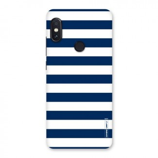Classic Blue White Stripes Back Case for Redmi Note 5 Pro
