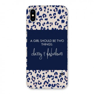 Classy and Fabulous Back Case for iPhone X