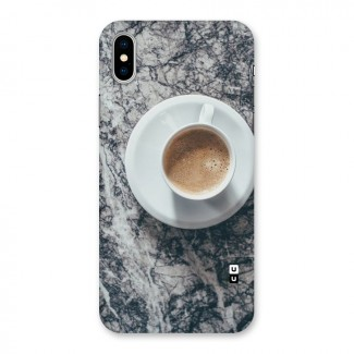 Coffee On Marble Back Case for iPhone X