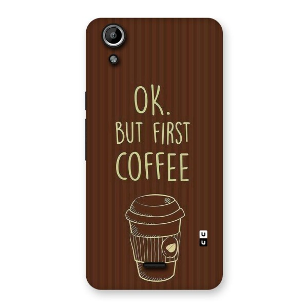 Coffee Stripes Back Case for Micromax Canvas Selfie Lens Q345