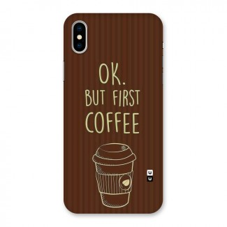 Coffee Stripes Back Case for iPhone X