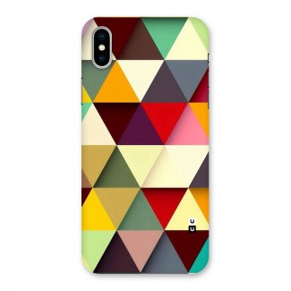 Colored Triangles Back Case for iPhone X