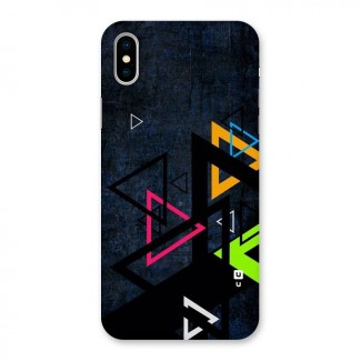 Coloured Triangles Back Case for iPhone X