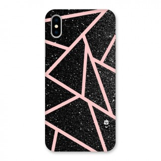 Concrete Black Pink Stripes Back Case for iPhone X