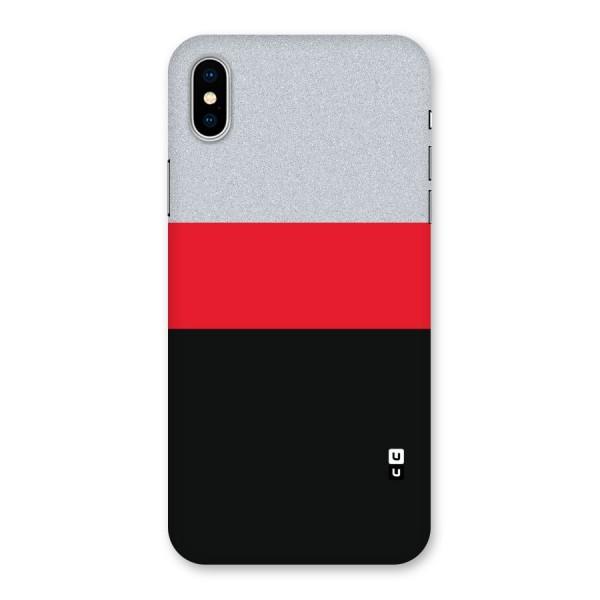 Cool Melange Stripe Back Case for iPhone X