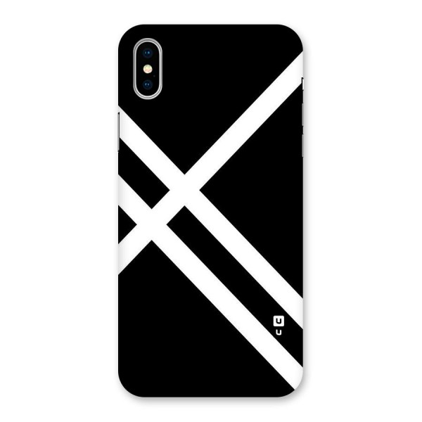 CrissCross Lines Back Case for iPhone X