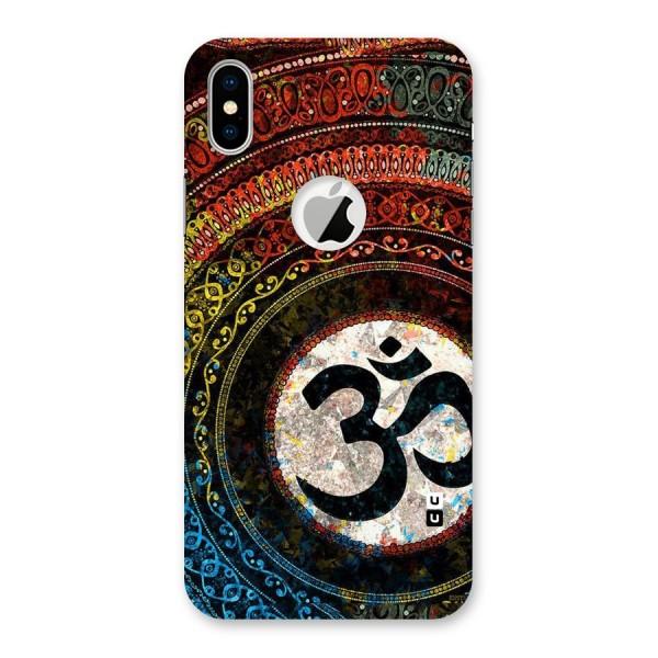 Culture Om Design Back Case for iPhone X Logo Cut
