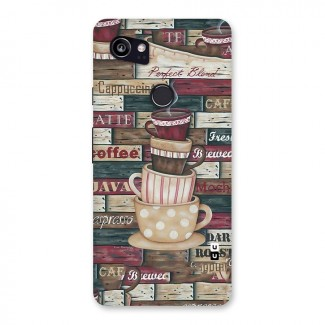 Cute Coffee Cups Back Case for Google Pixel 2 XL