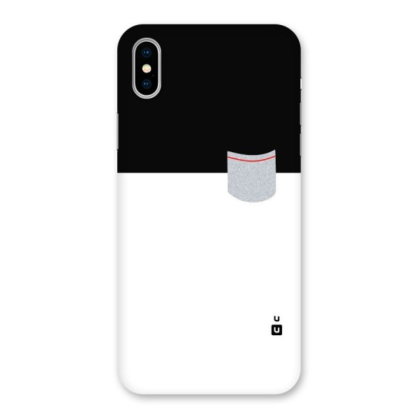 Cute Pocket Simple Back Case for iPhone X