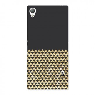 Dark Grey Golden Triangles Back Case for Sony Xperia Z3