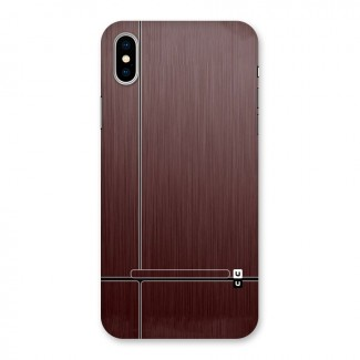 Dark Maroon Classic Design Back Case for iPhone X