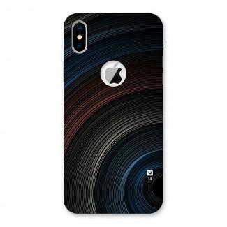 Dark Shade Swirls Back Case for iPhone X Logo Cut