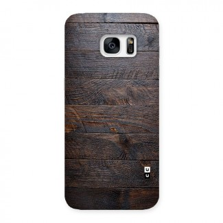 Dark Wood Printed Back Case for Galaxy S7 Edge